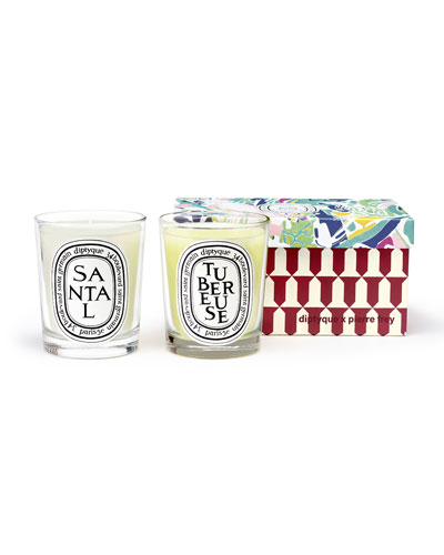 Tuberose & Sandalwood Scented Candle Set  2 x 6.7 oz./ 190g