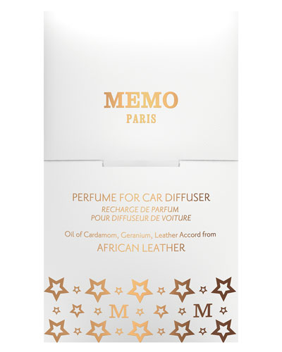 African Leather Car Diffuser Refill  2.5 oz./ 75 mL