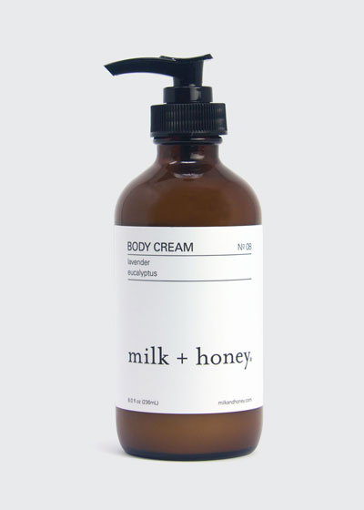 Body Cream No.08 (Lavender & Eucalyptus), 8 oz. / 236ml