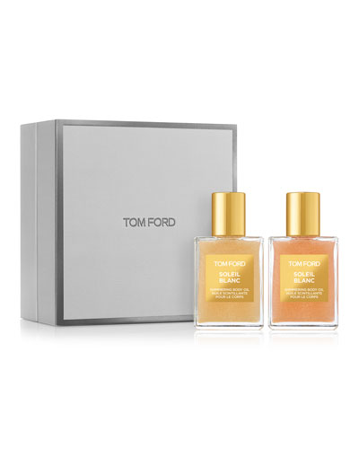 Soleil Blanc Shimmering Body Oil Duo - Gold & Rose Gold
