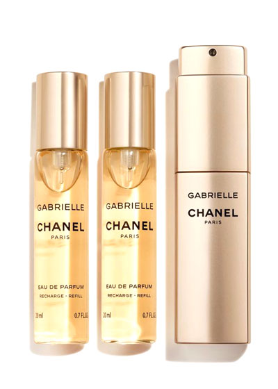 <b>GABRIELLE CHANEL</b><br>Eau de Parfum Twist and Spray, 3 x 0.7 oz.
