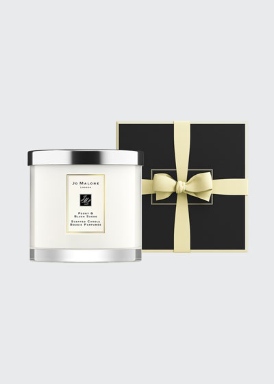 Peony and Blush Suede Deluxe Candle  21 oz./ 600 g