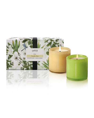 Herbal Candle Duo, 6.5 oz./ 190 g