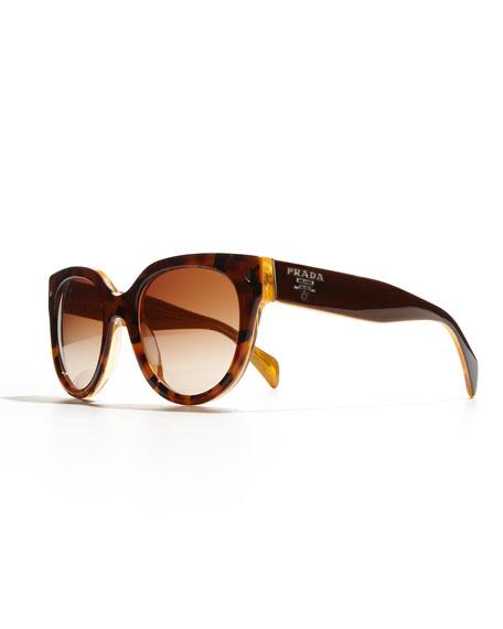 Heritage Cat-Eye Sunglasses, Yellow