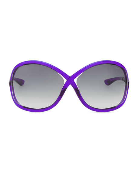 Whitney Bold Sunglasses, Purple