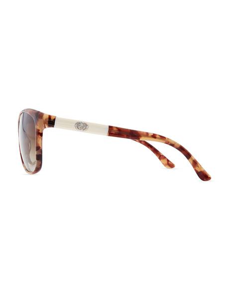 Square Sunglasses, Brown/Beige