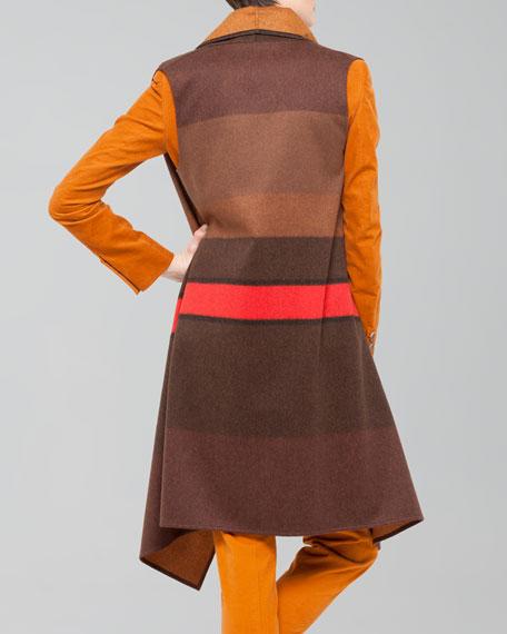 Colorblock Wool Flannel Gilet