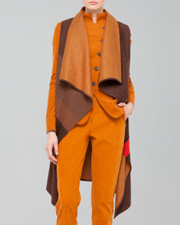 Akris Colorblock Wool Flannel Gilet