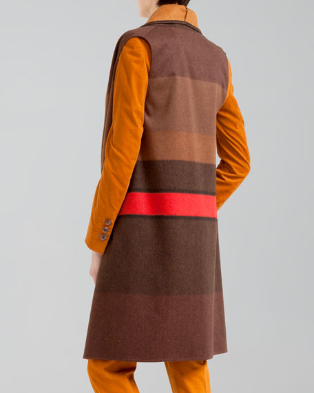 Colorblock Wool Flannel Gilet
