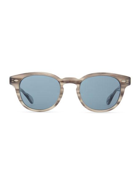 Sheldrake Round Photochromic Sunglasses, Gray Tortoise