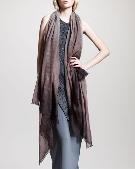 Boiled-Cashmere Ombre Scarf