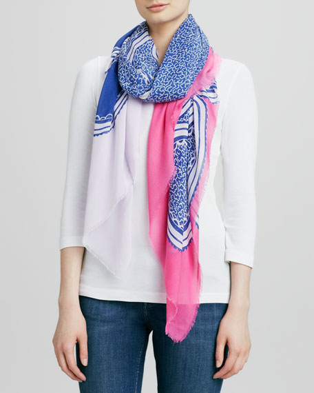 Campbell Scarf, Paisley Clouds Blue