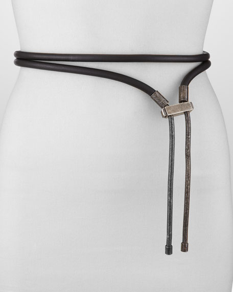 Lanvin Logo Clasp Belt, Black