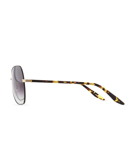 Yadiell Butterfly Sunglasses, Dark Tortoise