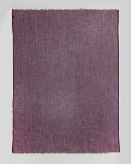 Faded Unique Stole, Pink Madder