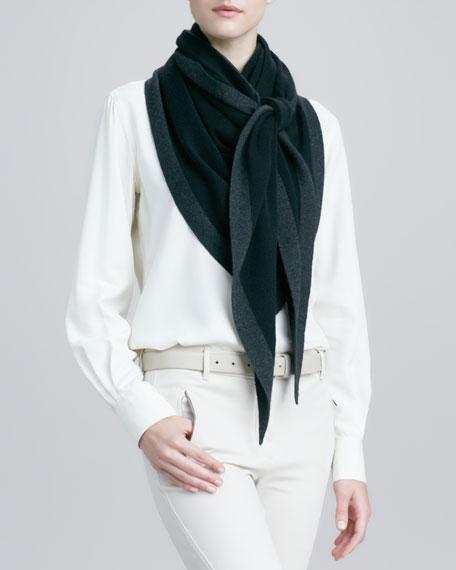 Scialle Flamenco Cashmere-Silk Shawl, Black