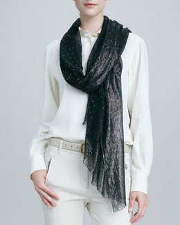 Loro Piana Crystal Drop & Shimmery Stole, Black
