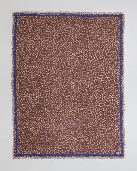 Leonora Leopard-Print Scarf, Brown/Multi