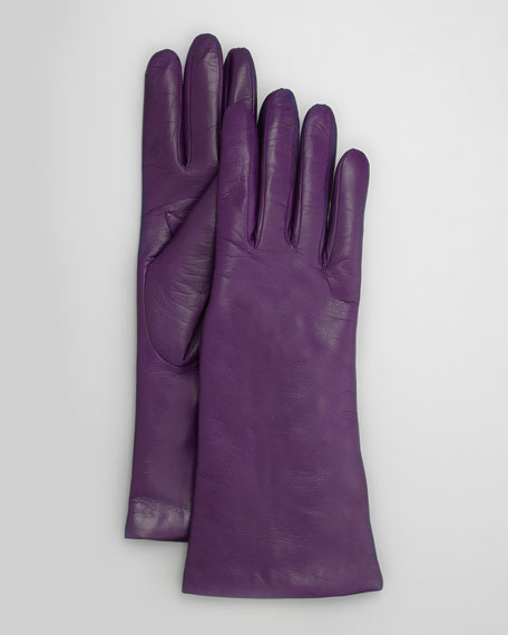 Four-Button Leather Gloves, Iris