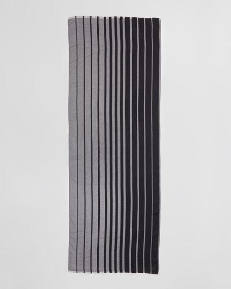 Degrade Burnout Stripe Stole, Black