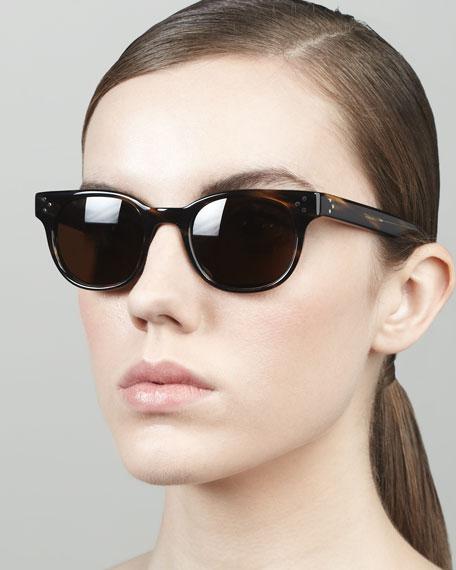 Afton Round Pin-Temple Polarized Sunglasses, Cocobolo
