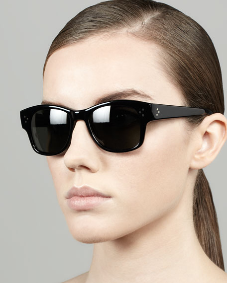 Jannsson Square Sunglasses, Black