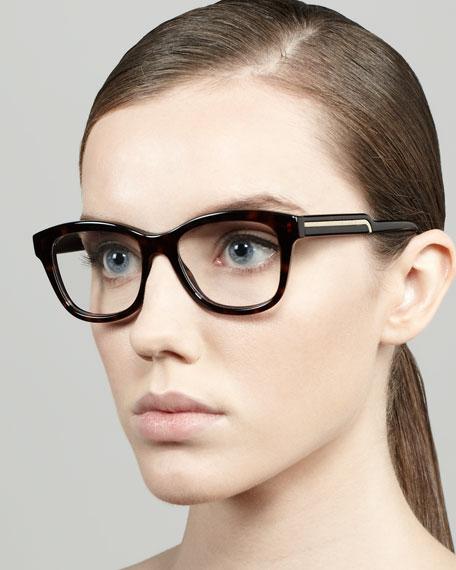 Oversized Round Fashion Glasses, Dark Tortoise