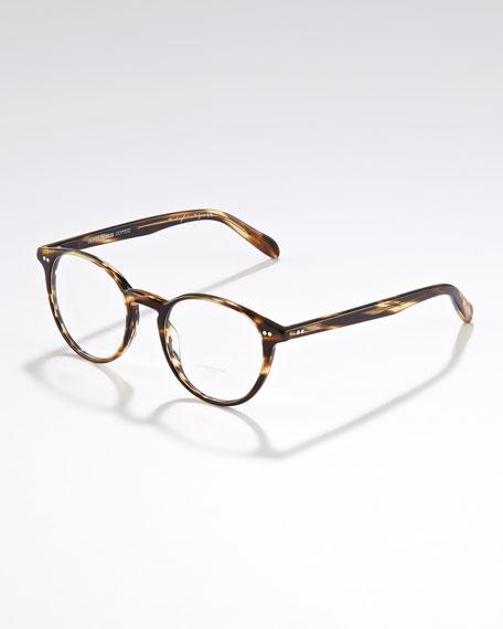 Elins Round Fashion Glasses, Cocobolo