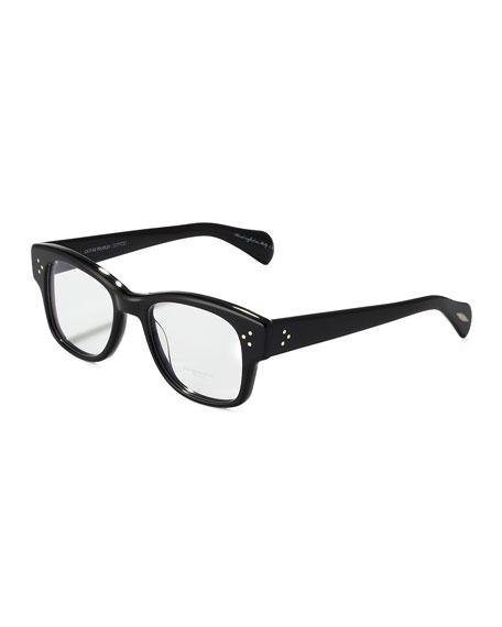 Jannsson Large Square Fashion Glasses, Black