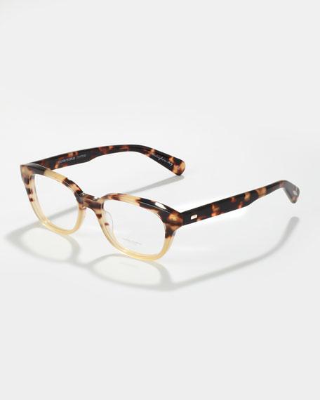 Michaela Rectangle Fashion Glasses, Spotted Tortoise