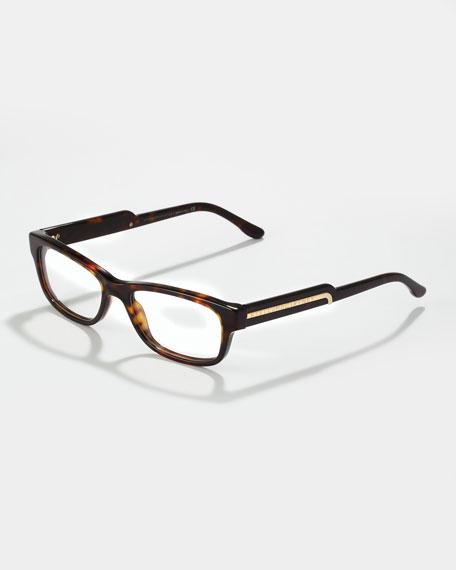 Rectangular Fashion Glasses, Dark Tortoise