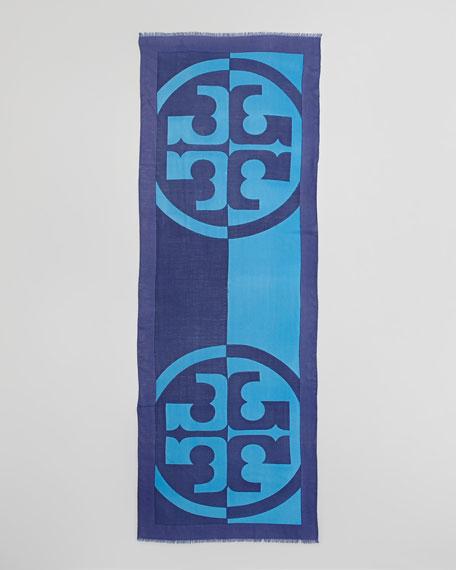 Reva T-Logo Scarf, Adriatic Blue