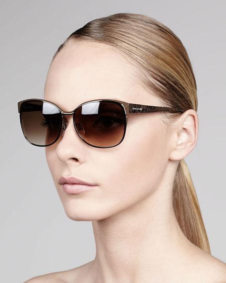 Round Metal Sunglasses, Silvertone
