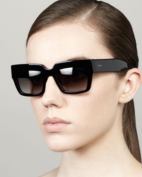 91b4a2ce03a69 Prada Poem Catwalk Square Sunglasses