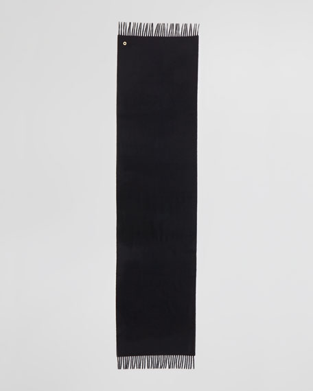 Grande Unita Cashmere Scarf, Black