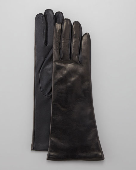 Long Leather Tech Gloves