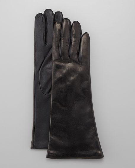 Leather Tech Gloves, Teak
