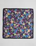 Printed Modal Crepe Square Scarf, Black/Multicolor