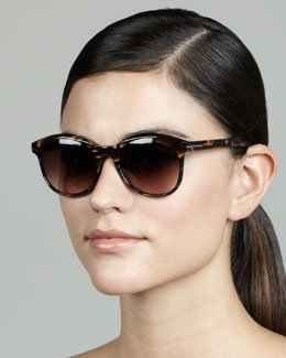Tom Ford Riley Sunglasses, Brown/Violet