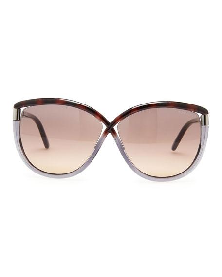 f287890457ee Tom Ford Abbey Oversized Cat-Eye Sunglasses