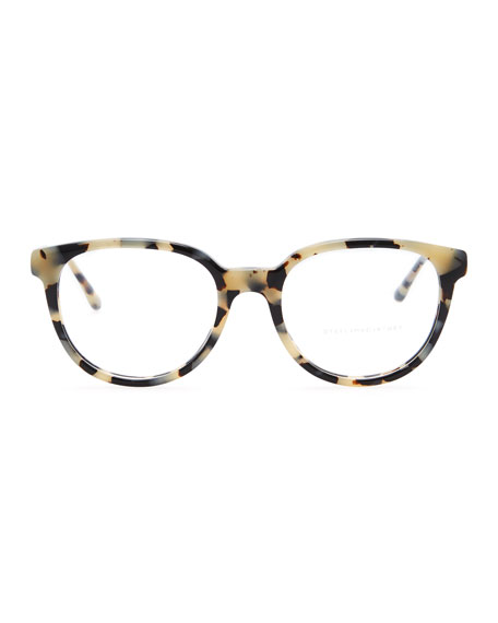Round Fashion Glasses, Spotty Tortoise