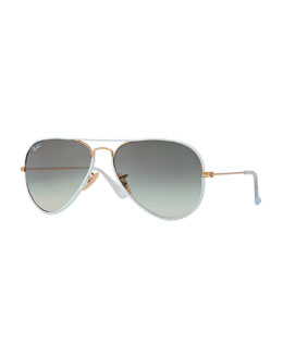 Ray-Ban Aviator Gradient Sunglasses, White