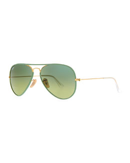 Ray-Ban Aviator Gradient Sunglasses, Green