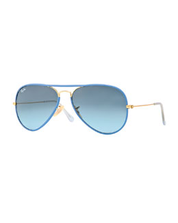 Ray-Ban Aviator Gradient Sunglasses, Blue