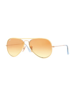 Ray-Ban Aviator Gradient Sunglasses, Yellow