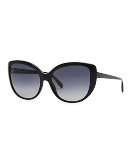 Oliver Peoples Hedda Oversized Cat-Eye Sunglasses, Black