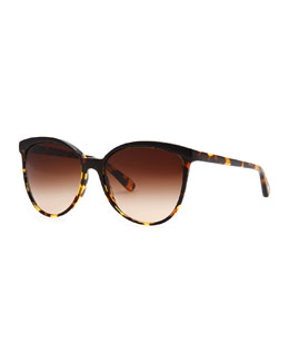 Oliver Peoples Ria Oversized Sunglasses, Tortoise