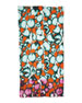 Hanover Ink Leopard Scarf, Orange/Green/Multi