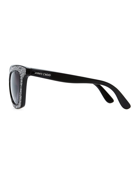 0a7aeac11872 Jimmy Choo Flash Crystal Sunglasses
