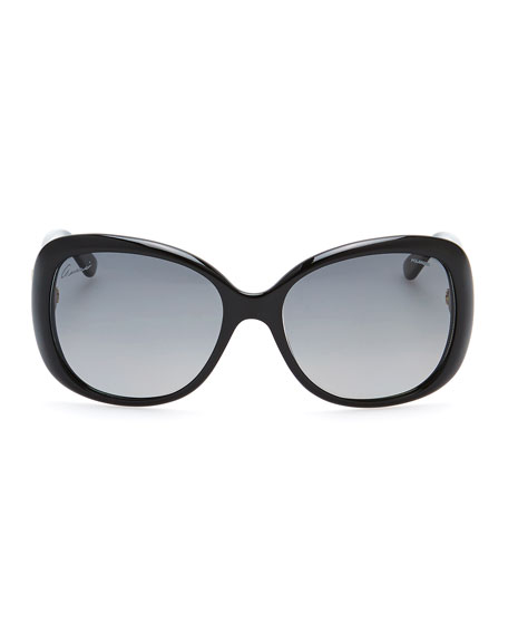 Gradient Polarized Sunglasses, Black